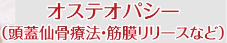 オステオパシー (頭蓋仙骨療法・筋膜リリース)